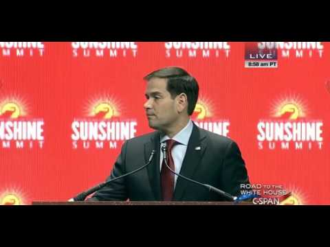 Marco Speaks at 2015 Sunshine Summit | Marco Rubio for President