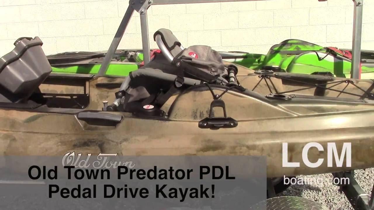 Meet the new old town predator pdl pedal drive kayak 2 for Pedal drive fishing kayak
