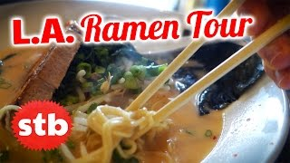 Los Angeles Tonkotsu Ramen Restaurant Tour with Egoraptor, Mortemer, and SoloTravelBlog