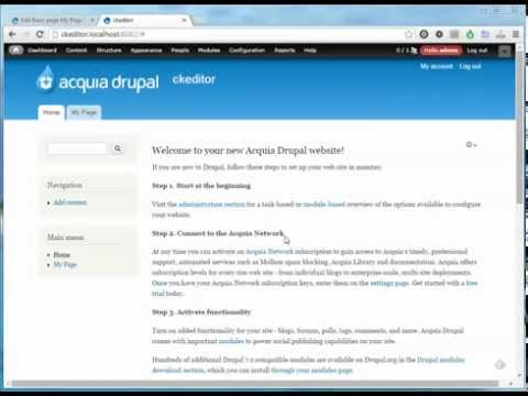 Drupal 7 – How to set a homepage