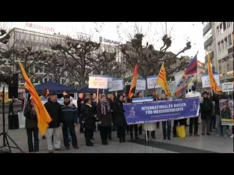 International Day Of Human Rights - Dec. 10, 2011 - Walk Frankfurt,Germany