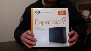 Seagate Expansion Drive 3TB Unbox and Review