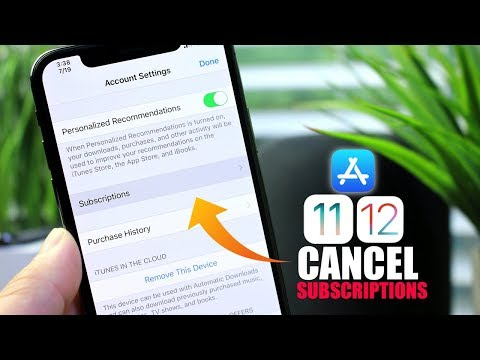 How to Cancel App Subscriptions iPhone iOS 11 & iOS 12 - YouTube