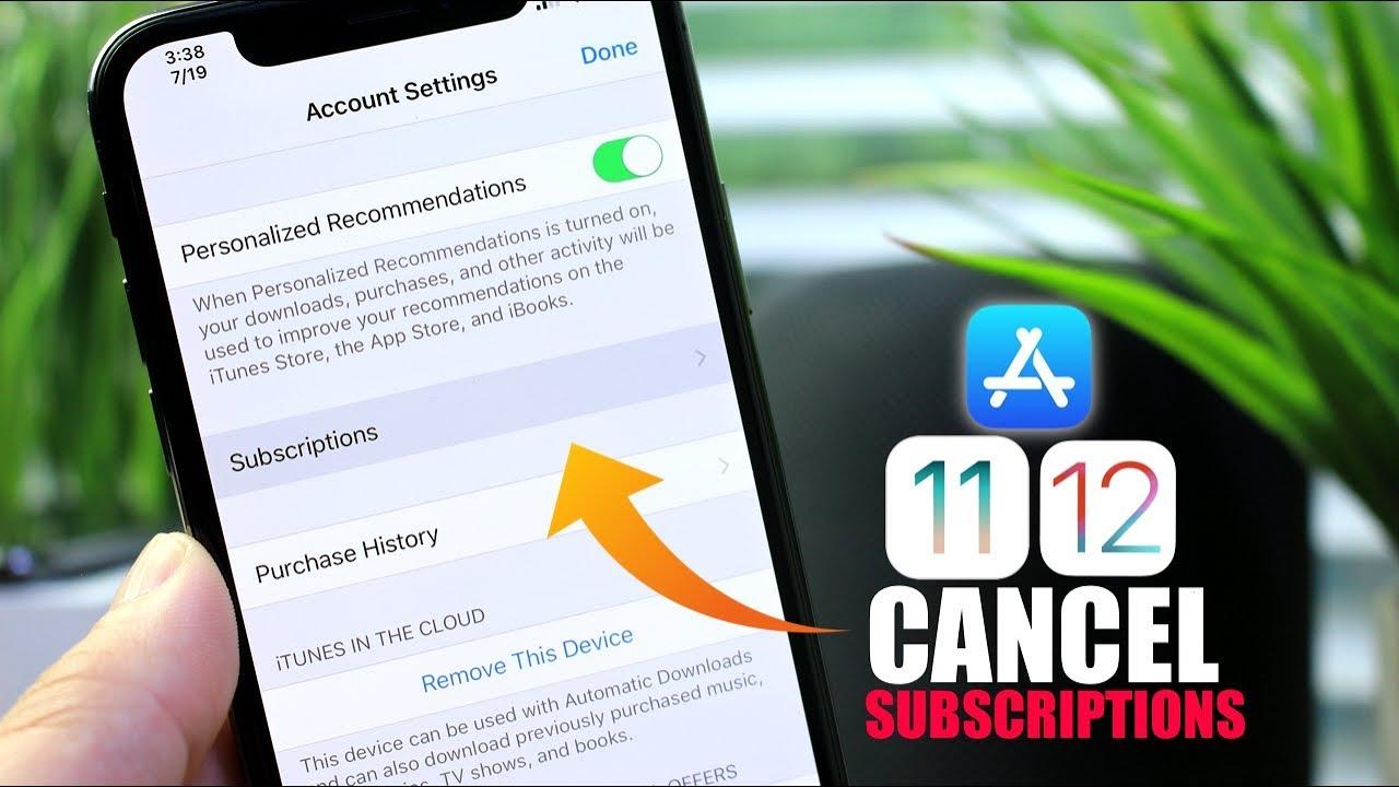 Cancel app subscription itunes