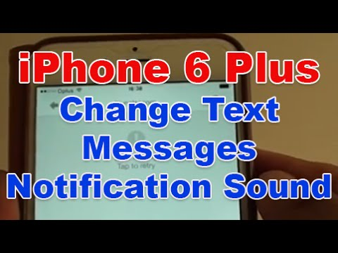 iphone text sound iphone 6 plus how to change text message notification 8919
