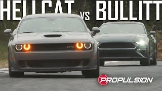 DUEL : Mustang Bullitt vs Challenger Hellcat Widebody