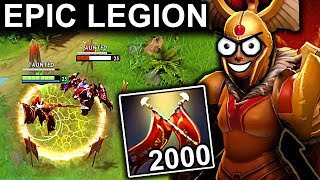 EPIC 2000+ DAMAGE LEGION COMMANDER PATCH 7.10 DOTA 2 NEW META GAMEPLAY #48 (DOTA PLUS NEW STATS LC)