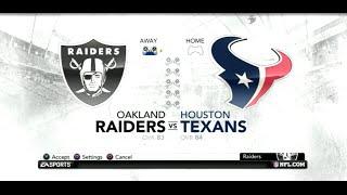 PS3 Gameplay: Madden NFL 12 (Season Week: 5) [Raiders vs Texans]