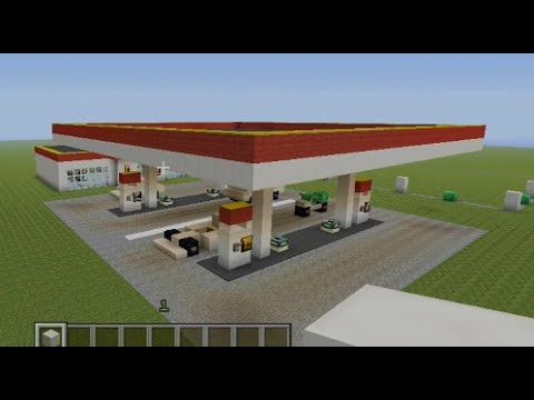 Minecraft Tutorial: Gas station!