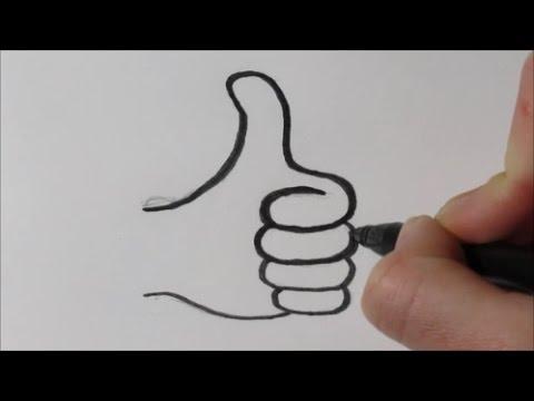 Zo Teken Je Een Duimpje Omhoog In Stappen Youtube