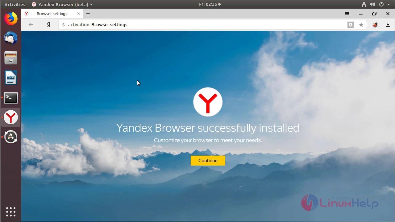 How to install Yandex 18 4 on Ubuntu 18 04 | LinuxHelp Tutorials