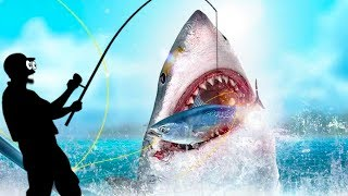 ⚓ История о том как я поймал Огромную Хищную АКУЛУ в прикольной мобильной игре Fishing Strike
