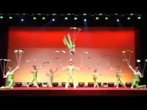 """Circus Circus Agency presents : Plate spinning chinese circus act , Artist ID """"00031"""""""