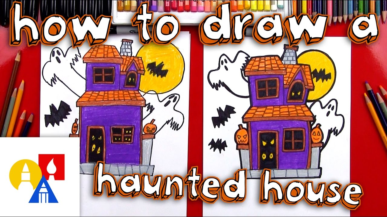 Halloween Town Movie Drawing.How To Draw A Haunted House