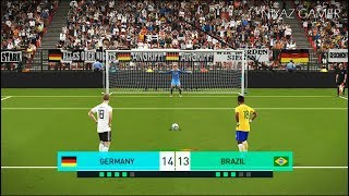 GERMANY vs BRAZIL | Penalty Shootout | PES 2018 Gameplay PC