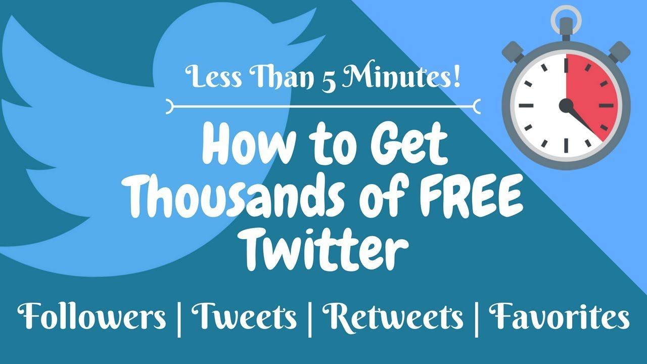 🔥How to get FREE Twitter Followers, Tweets, Retweets and Favorites!🔥