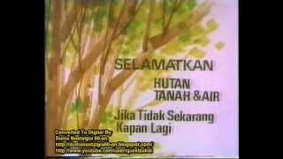Iklan Penghijauan + Pola Acara TVRI 1981