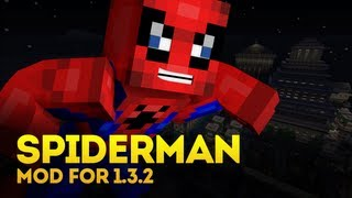 Minecraft Mod Spotlight: Spiderman Mod (Become a superhero!) (1.4.7)