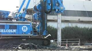 Metro Expo Line drilling of large hole for foundation -- Part 2