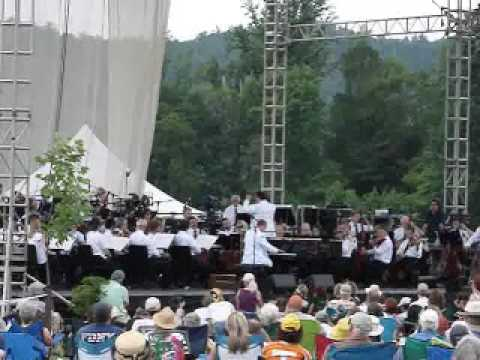 Sen. Lamar Alexander plays Amazing Grace with KSO in Cades Cove Great Smoky Mountains
