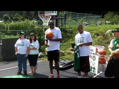 ESPN Boston: Avery Bradley, Cedric Maxwell unveil court in Monson