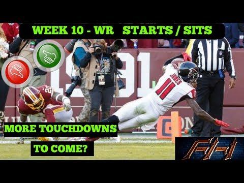 2018 Fantasy Football Lineup Advice  - Week 10 WR\'s Start/Sit Episode