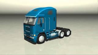 Freightliner Argosy Short Frame 3D model Turntable