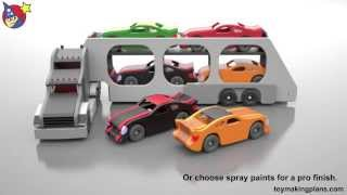 Wood Toy Plans - Toy Truck Car Carrier