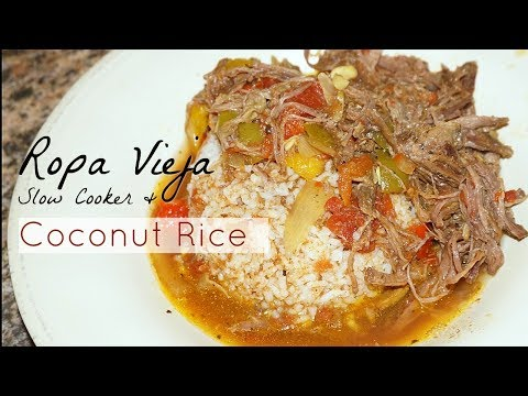 Ropa Vieja Slow Cooker + Coconut Rice ♡ Recipe