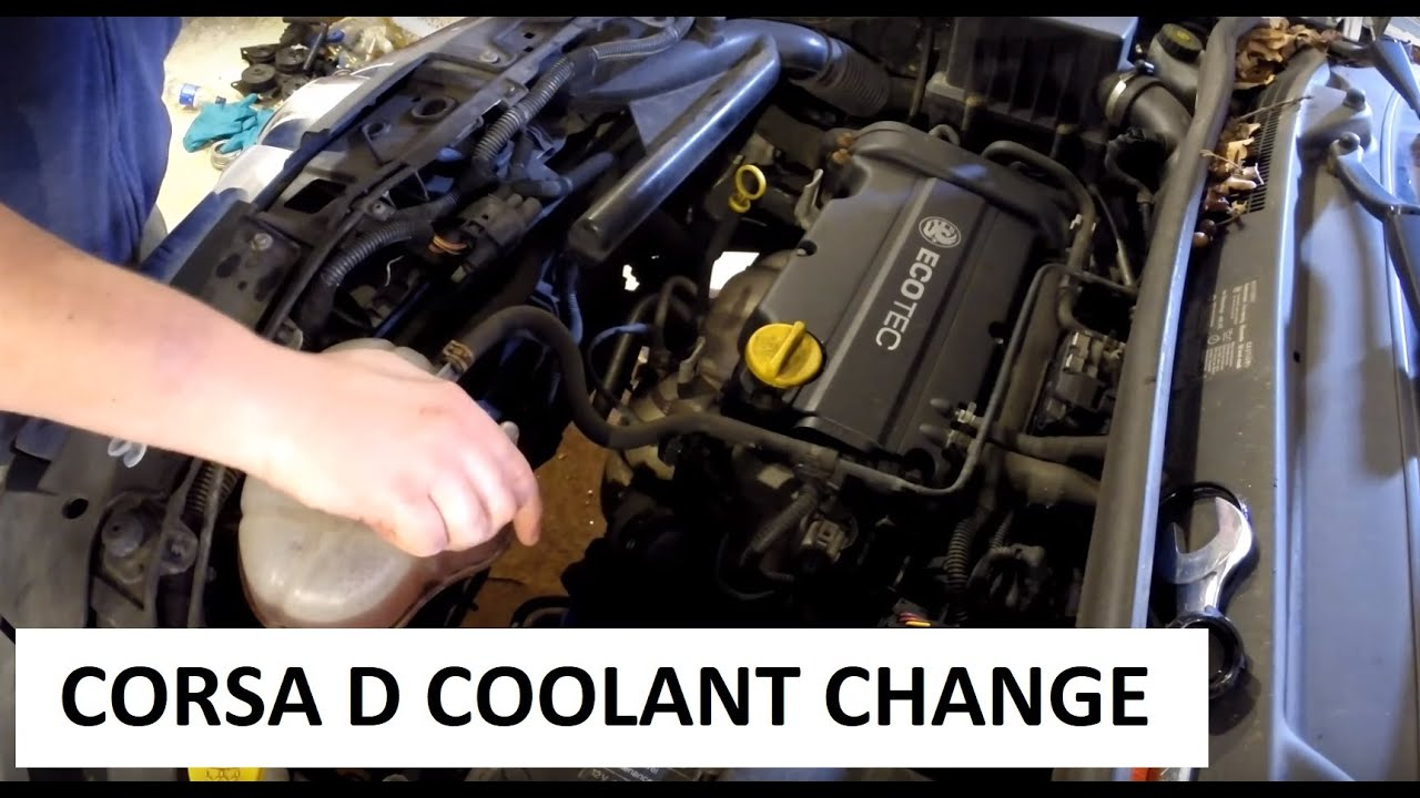 Vauxhall Corsa D Coolant Change DIY on