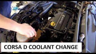 Vauxhall Corsa D Coolant Change DIY