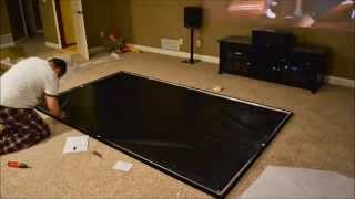 "Assembling the Elite Screens ER120WH1 Sable Fixed Frame 120"" Screen"