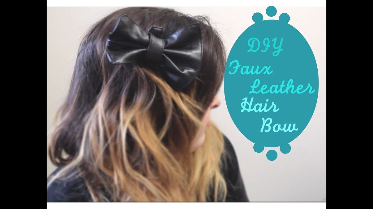 Ombr\u00e9 Spider Faux Leather Hair Bow