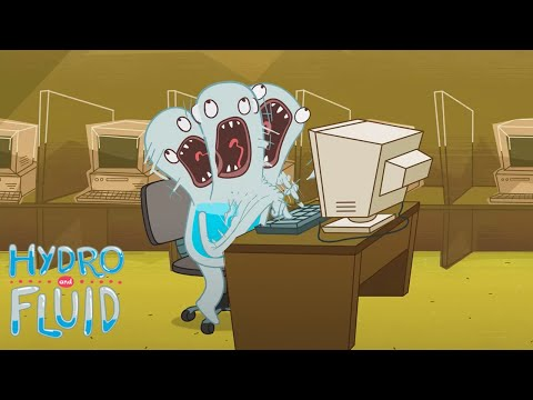 Working Hard | HYDRO and FLUID | Funny Cartoons for Children