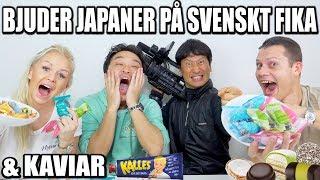 BJUDER JAPANER PÅ SVENSKT FIKA & KAVIAR