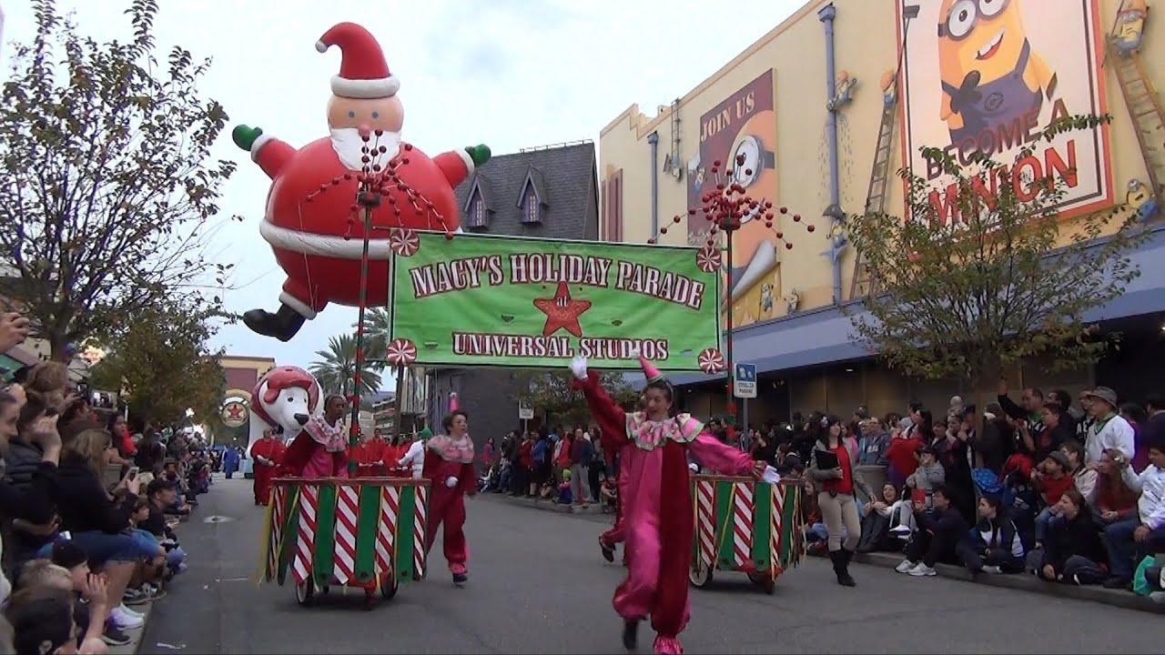 Universal Studios Macy S Holiday Parade 2013 2014 Season