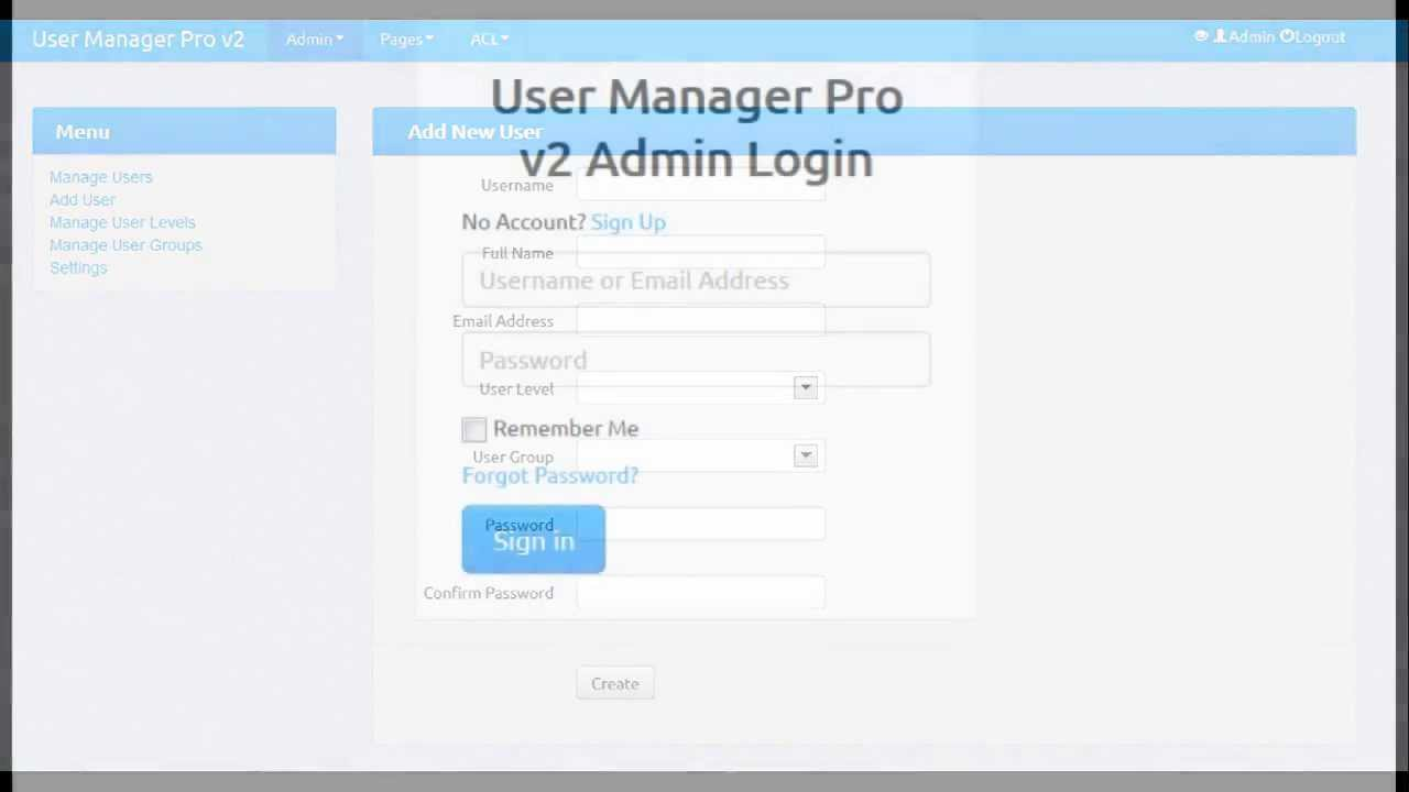 Codeigniter User Management with ACL and Facebook Login