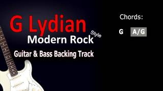 G lydian ModernRock Guitar&Bass BackingTrack 126 Bpm