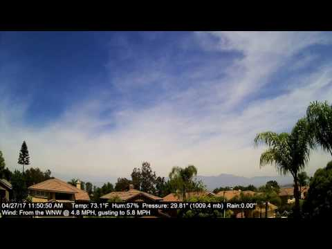 Chino Hills Time-Lapse 4/27/17