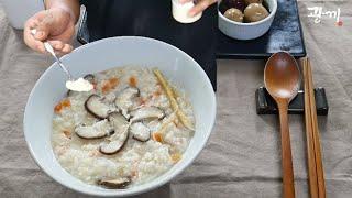 햇반과 캔닭가슴살로, 맛있는 닭죽 간단하게 만들기 / …