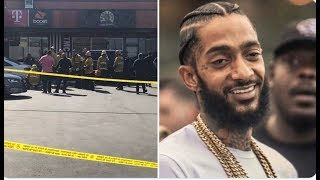 NIPSEY HUSSLE SHOT OUTSIDE HIS MARATHON STORE IN SOUTH CENTRAL LOS ANGELES