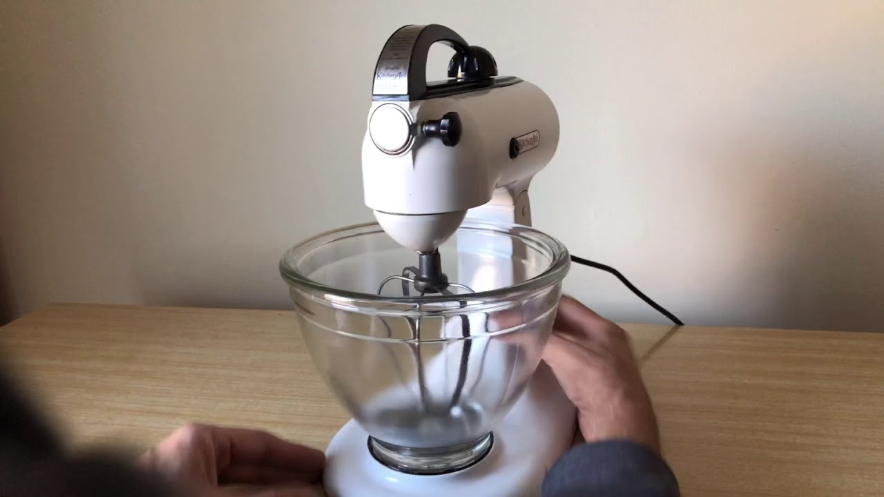 Ready For Duty The Kitchenaid 3b Stand Mixer Humming Beautifully After Cleaning All New Grease Youtube