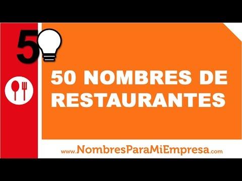 50 nombres para restaurantes - los mejores nombres para tu negocio - www.nombresparamiempresa.com