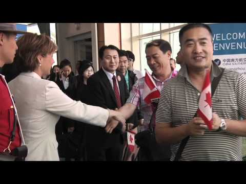 Premier Christy Clark Welcomes China Southern Airline's Inaugural Flight To YVR
