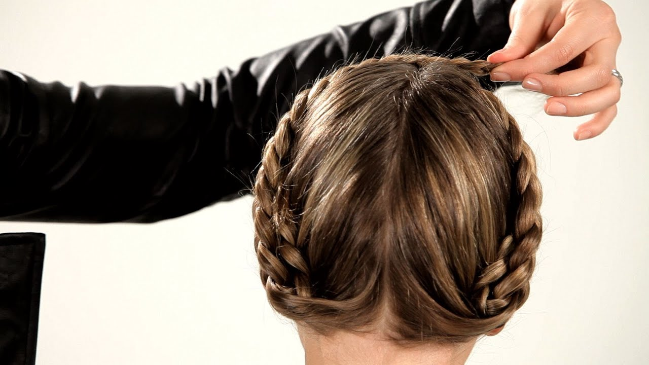 picture Video Tutorial: The Reverse Milkmaid Braid