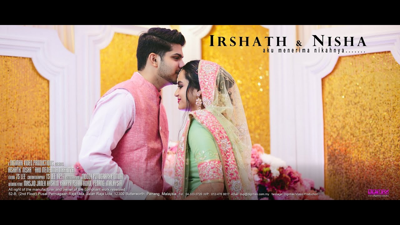 Beautiful Indian Muslim Wedding | Akad Nikah | Irshath & Nisha by ...