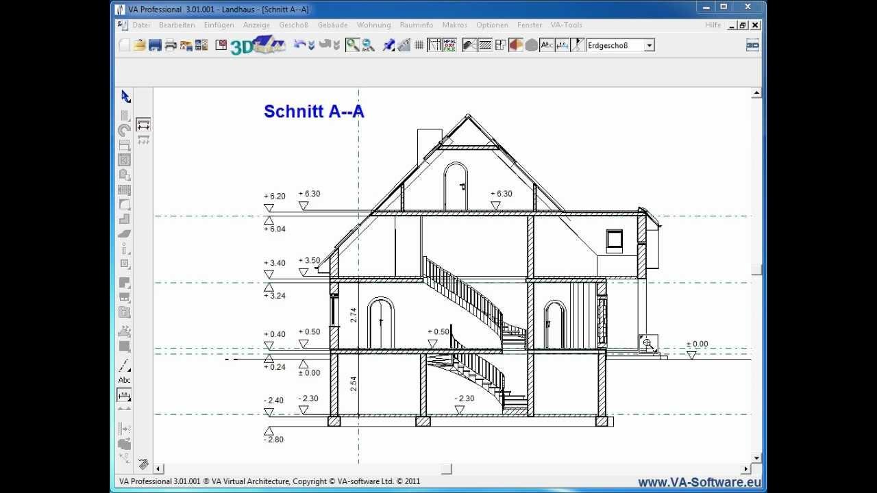 Va Tutorial 3 4 2 Verma 223 Ung Von Schnitten In 3d Cad Kompatibel Zu Va Software Arcon Etc