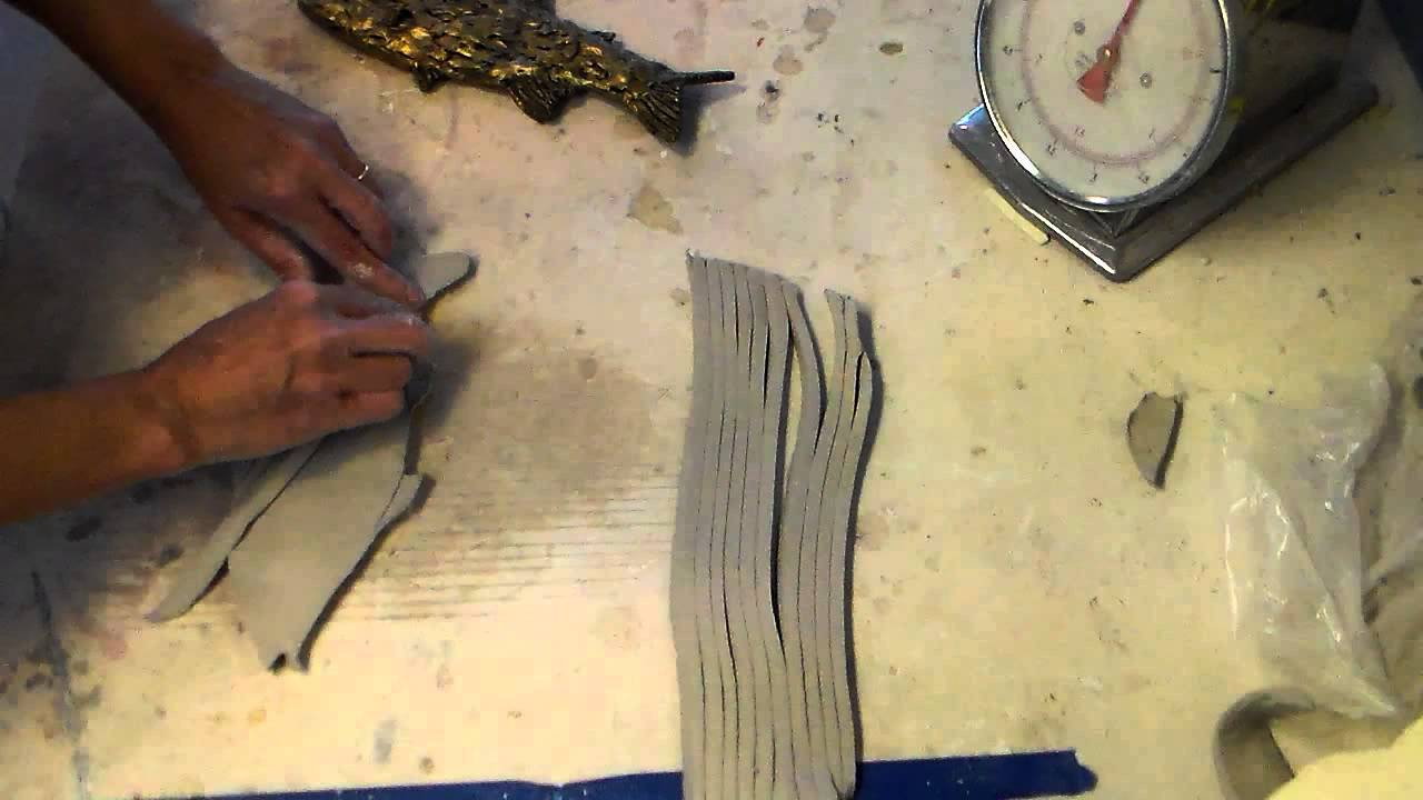 How to make a ceramic fish wall hanging-1/1 - YouTube