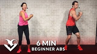 6 Minute Abs Workout for Beginners - Easy Beginner Ab Workout for Women & Men at Home