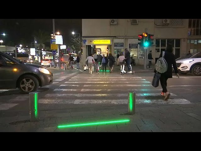 Tel Aviv installs 'zombie lights' for pedestrians addicted to mobile phones